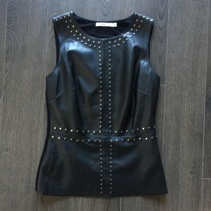 Bailey 44 leather-style stuffed top XS